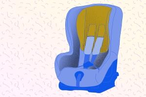 Geblitzt und nicht angeschnallt? Ein Kind muss im Kindersitz vorschriftsmäßig angegurtet werden.