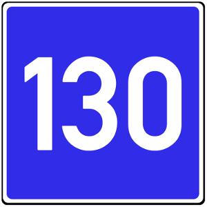 Kann die Richtgeschwindigkeit durch ein Schild angezeigt werden?